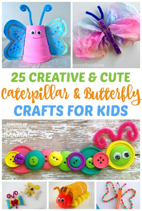 25 caterpillar and butterfly crafts for 830   25 Creative and Cute Caterpillar and Butterfly Crafts for Kids Perfect for a Spring Preschool Theme at B Inspired Mama