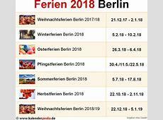 Ferien Berlin 2018 Übersicht der Ferientermine