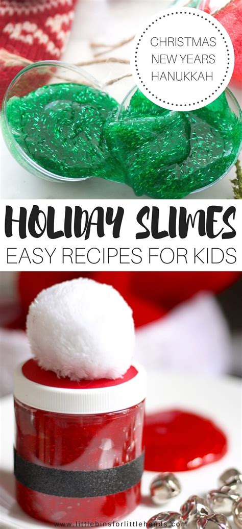holiday slimes for christmas hanukkah snow activities and new years