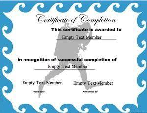 scuba diving completion certificate certificate
