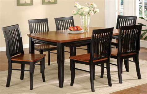 earlham antique oak  black rectangular leg dining room