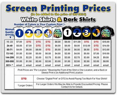 Printing Screen Custom Shirts Shirt Prices Digital