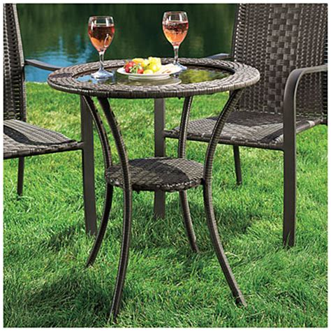 Wilson Fisher Patio Table by View Wilson Fisher 174 Resin Wicker Glass Top Bistro Table