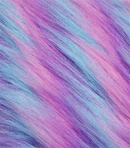 Blue Pink Purple Faux Fur Fabric