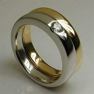 bespoke curved air mixed metal engagement wedding ring With platinum and gold wedding rings
