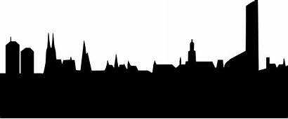 Skyline Clipart Wroclaw Silhouette Vector York Cleveland