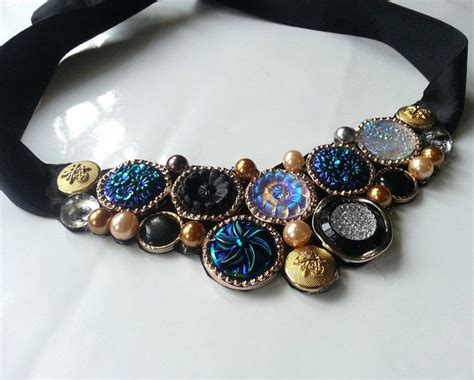Diy Vintage Button Necklace · How To Make A Button