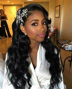 43 Black Wedding Hairstyles For Black Women Loose Waves Snowflake Hairstyles & Haircuts for