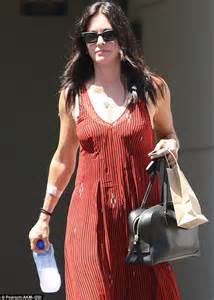 Barefaced Courteney Cox Shows Off Her Svelte Figure In Red Maxi Dress As She Steps Out In La