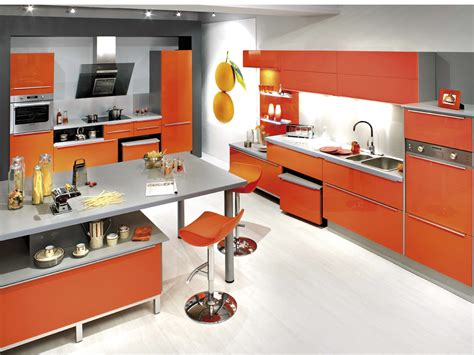 cuisine en orange cuisine tendance orange cosmic