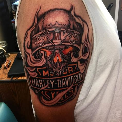 75 Adventurous Harley Davidson Tattoos