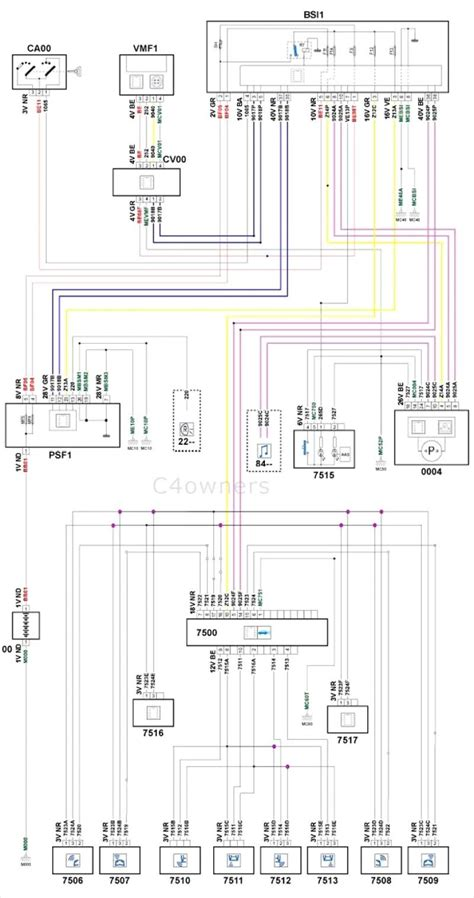 citroen stereo wiring diagram circuit wiring diagram