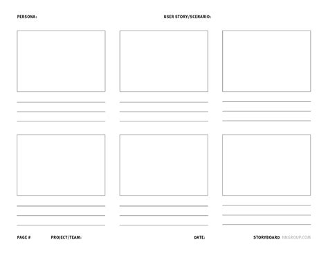 Design Storyboard Template by Storyboards Help Visualize Ux Ideas Yellowmustards