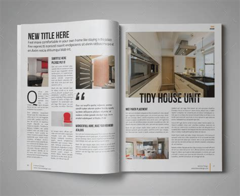 modern digital home magazine templates   psd