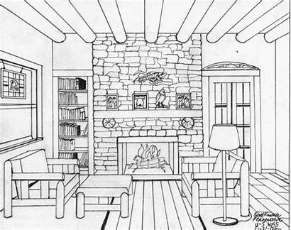 Perspective Drawing Sketch Drawings Pages Colouring Coloring
