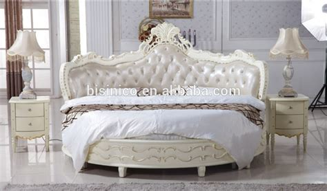 luxury wooden  bed wood double white  bed view