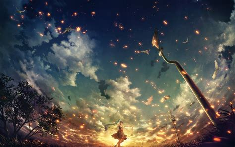 Anime Night Scenery Wallpaper Anime Girl Wallpaper Hd Download Free Cool Full Hd Wallpapers For Desktop Computers And
