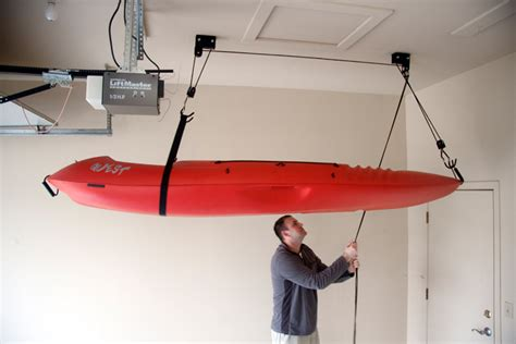 kayak hoist ceiling rack kayak and canoe hoist ceiling rack storeyourboard