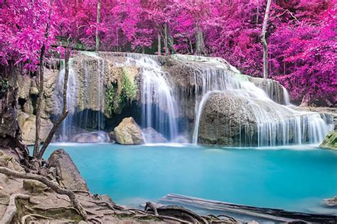 chambre deco nature tableau photo cascade enchantée izoa