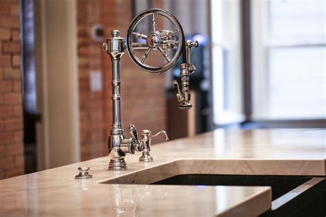 The Wheel Pull Out Kitchen Tap   Waterstone Luxury Kitchen