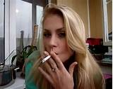Cigarette blonde teen smoking cigarette