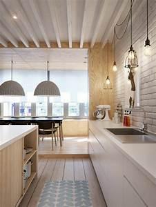 La cuisine en bois massif en beaucoup de photos for Idee deco cuisine avec meuble scandinave bois