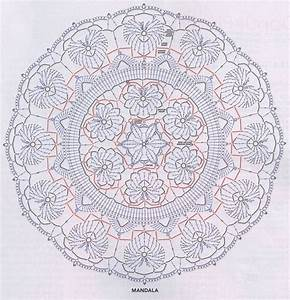 Ergahandmade  Crochet Mandala   Diagram