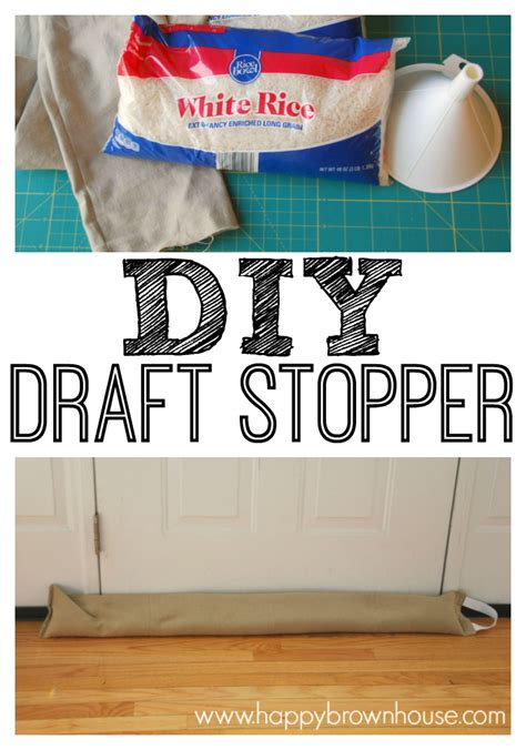 How To Make A Door Draft Stopper Diy Door Draft Stopper Easy Sewing Project