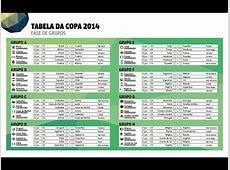 TABELA COMPLETA DA COPA DO MUNDO 2014 HINO NACIONAL