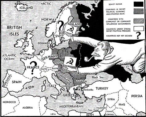 Churchill Iron Curtain Speech Video by Political Cartoons Cold War