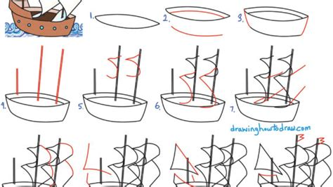 How To Draw A Pilgrim Boat by Mayflower Ship Drawing At Getdrawings Free For