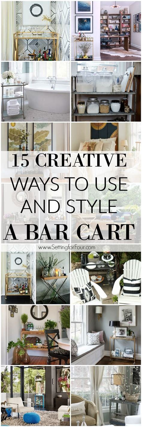 15 Creative Ways To Use And Style A Bar Cart Kitchen