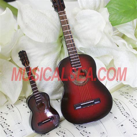 miniature guitar replica  wooden ornament toy  girl