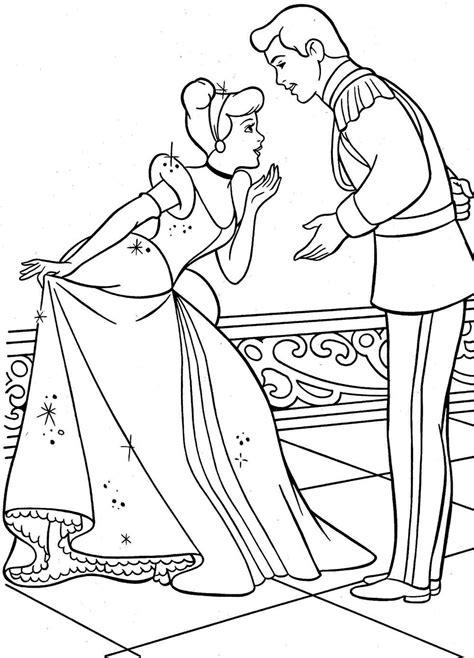 Cinderella Coloring Pages To Print Cinderella coloring