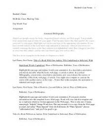Annotated Bibliography APA Format Template