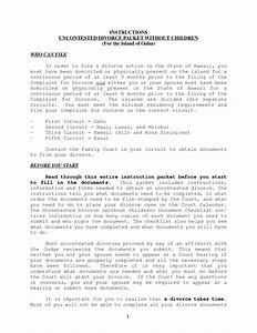 best photos of free printable uncontested divorce papers With uncontested divorce documents