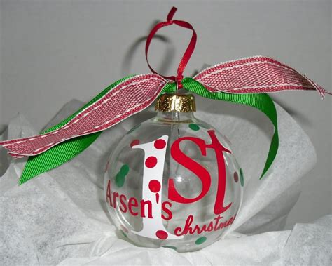 personalized baby s first christmas ornament
