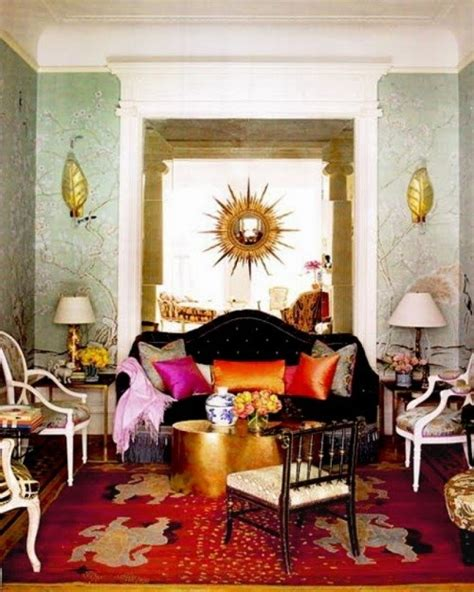back sofa table 20 amazing bohemian chic interiors