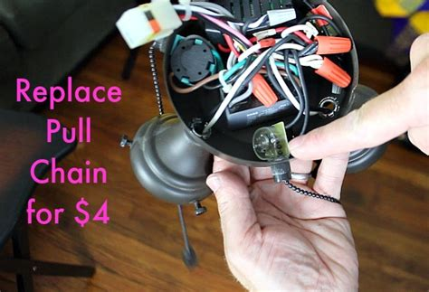 fix ceiling fan pull chain 4 wire pull chain switch wiring diagram get free image