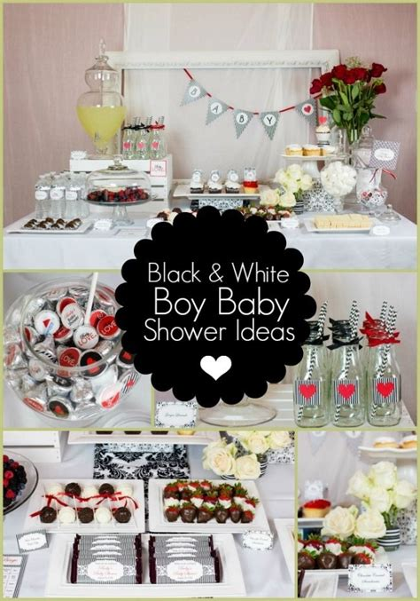 Baby Shower Theme For by Black And White Boy Baby Shower Ideas White Shower