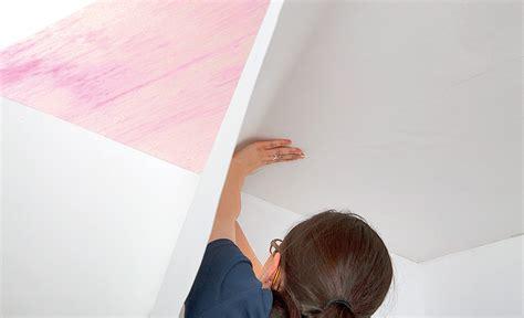 Decke Mit Vliestapete Tapezieren  Farben & Tapeten
