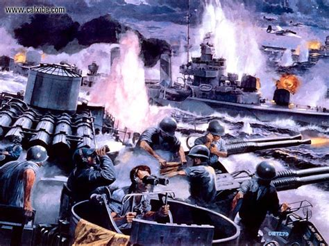 drawing painting battle  leyte gulf james dietz