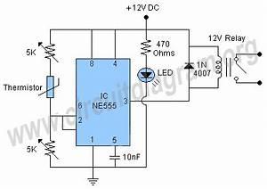 Temperature Control Circuit Using 555 Ic