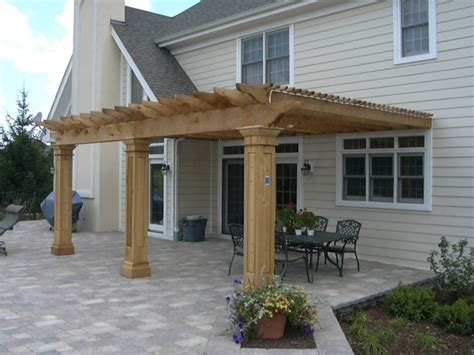 cedar pergola attached to house pergola columns my house and larger