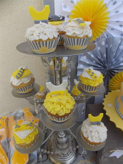 yellow grey gender reveal party ideas photo