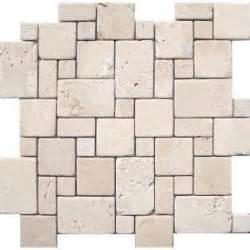 ms international 12 in x 12 in ivory mini versaille pattern travertine mosaic floor wall