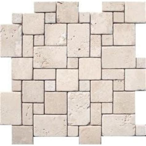Versaille Tile Patterns Floors by Ms International 12 In X 12 In Ivory Mini Versaille