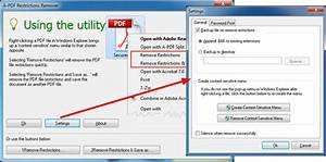 how to remove pdf files restriction for opening copying With pdf document restrictions remove