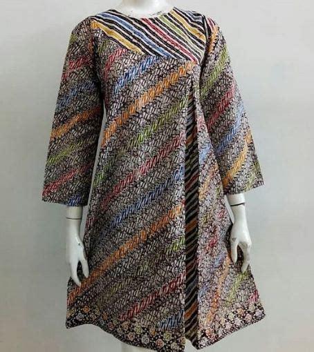 model baju batik kombinasi wanita batik model