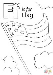 Coloring Letter F by Letter F Is For Flag Coloring Page Free Printable